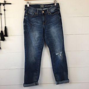 LEVI STRAUSS Mid-Rise slim cuffed jeans size 6